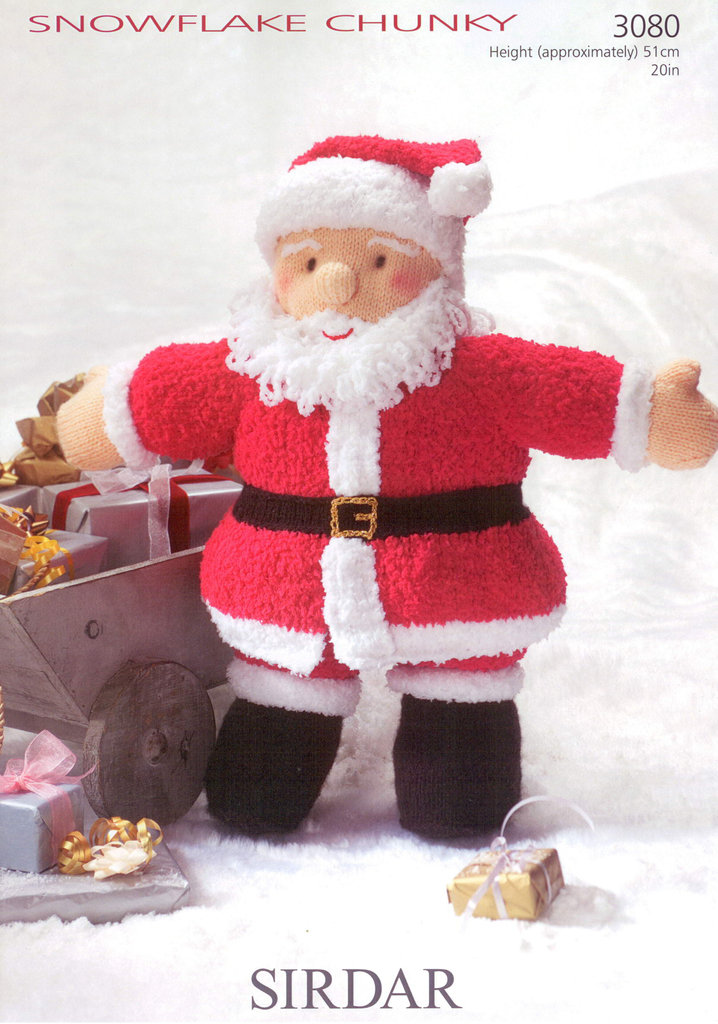 Sirdar 3080 Knitting Pattern Father Christmas Toy in Sirdar Snowflake Chunky ...