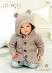 Stylecraft 8912 Knitting Pattern Childrens Hoodie In Stylecraft Lullaby DK