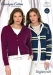 Stylecraft 8910 Knitting Pattern Ladies Cardigan Jacket Classique Cotton DK