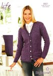 Stylecraft 8927 Knitting Pattern Cardigan in Stylecraft Life 4 Ply