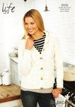 Stylecraft 8926 Knitting Pattern Ladies Cardigan in Stylecraft Life Aran