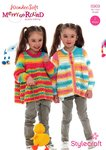 Stylecraft 8969 Knitting Pattern Girls Cardigan and Sweater in Wondersoft Merry Go Round DK
