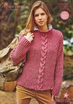 Stylecraft 9012 Knitting Pattern Sweaters in Stylecraft Alpaca Tweed DK