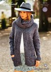 Stylecraft 9014 Knitting Pattern Ladies Cardigans Snood in Stylecraft Alpaca Tweed DK