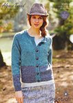 Stylecraft 9009 Knitting Pattern Cardigan and Sweater in Stylecraft Alpaca Tweed DK