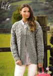 Stylecraft 9046 Knitting Pattern Ladies Jacket Cardigan in Life Chunky