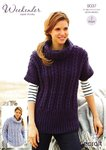 Stylecraft 9037 Knitting Pattern Sweater and Tunic in Weekender Super Chunky