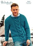 Stylecraft 9040 Knitting Pattern Mens Sweater in Weekender Super Chunky
