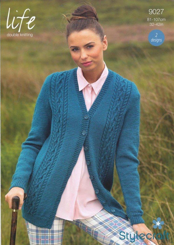 Sirdar Ladies Jackets Bouffle Knitting Pattern 7390 Chunky