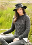 Stylecraft 9075 Knitting Pattern Ladies Sweater in Special Aran