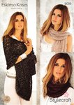Stylecraft 9056 Knitting Pattern Girls Ladies Shawl Scarves and Snood in Eskimo Kisses DK