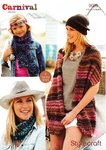 Stylecraft 9089 Knitting Pattern Girls Ladies Wrap Scarf Snood in Carnival Chunky