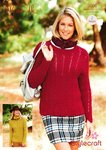 Stylecraft 9096 Knitting Pattern Ladies Sweaters in Alpaca Dk