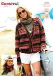 Stylecraft 9086 Knitting Pattern Ladies Waistcoat Jacket and Snood in Carnival Chunky