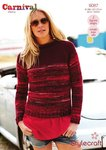 Stylecraft 9087 Knitting Pattern Ladies Sweaters in Carnival Chunky