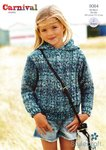 Stylecraft 9084 Knitting Pattern Girls Cable Sweater and Hoodie in Carnival Chunky