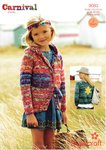 Stylecraft 9083 Knitting Pattern Girls and Ladies Jacket and Hoodie in Carnival Chunky