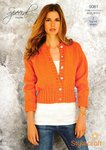 Stylecraft 9081 Knitting Pattern Ladies Cardigan and Mens Sweater in Special Chunky