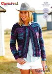 Stylecraft 9085 Knitting Pattern Ladies Jackets in Carnival Chunky