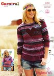Stylecraft 9082 Knitting Pattern Girls and Ladies Sweaters in Carnival and Special Chunky