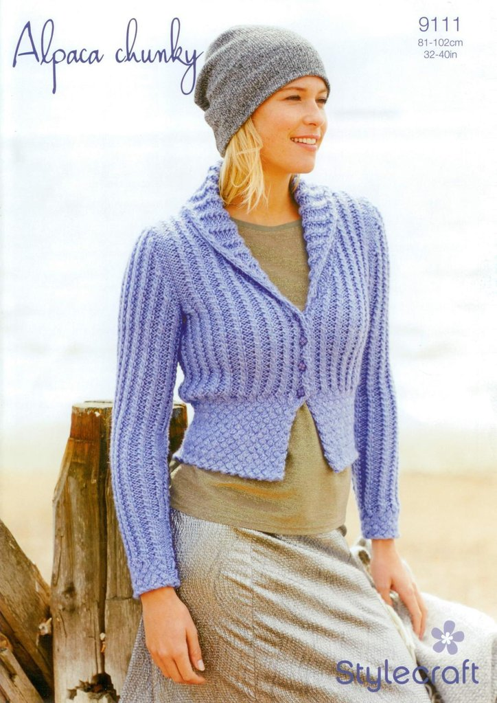 Stylecraft 9111 Knitting Pattern Ladies Fitted Jacket In
