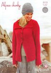 Stylecraft 9113 Knitting Pattern Ladies Jackets in Alpaca Chunky