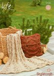 Stylecraft 9130 Knitting Pattern Throw and Cushion in Life Super Chunky