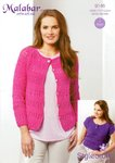 Stylecraft 9146 Knitting Pattern Ladies Cardigan and Tee in Malabar Aran