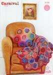 Stylecraft 9158 Crochet Pattern Throw and Cushion in Carnival Chunky and Special Aran