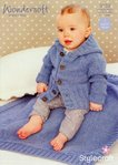 Stylecraft 9153 Knitting Pattern Baby Coat and Blanket in Wondersoft DK