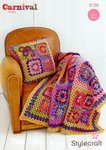 Stylecraft 9159 Crochet Pattern Throw and Cushion in Carnival Chunky and Special Aran