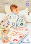 Stylecraft 9156 Crochet Pattern Baby Blanket and Bib in Special and Classique Cotton DK
