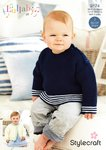 Stylecraft 9174 Knitting Pattern Baby Cardigan and Tunic in Lullaby DK