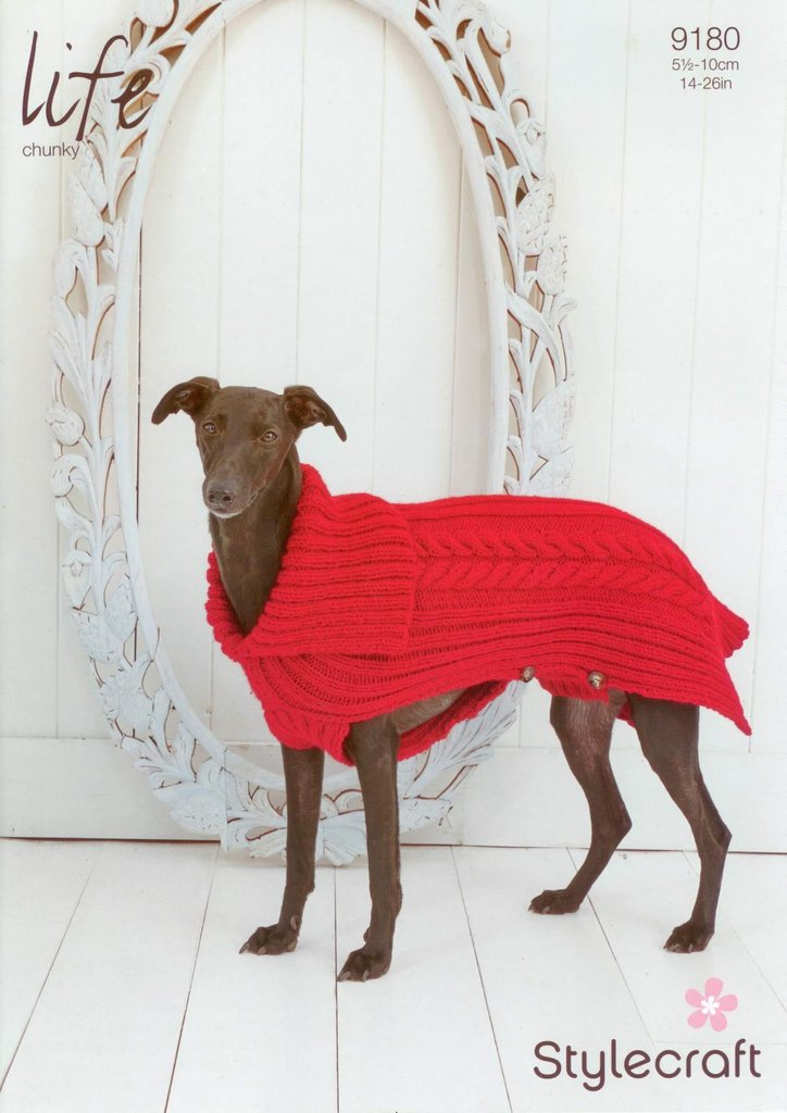 Dog Coat Knitting Pattern Uk : Stylecraft knitting pattern cabled dog coat in life