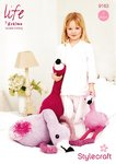 Stylecraft 9163 Knitting Pattern Flamingo Bird Toy in Life DK and Eskimo DK