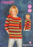Stylecraft 9181 Knitting Pattern Ladies Sweaters in Cabaret DK