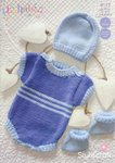 Stylecraft 9177 Knitting Pattern Baby Romper Hat and Booties in Lullaby DK