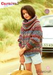 Stylecraft 9190 Knitting Pattern Sweater, Snood and Hat in Stylecraft Carnival Chunky