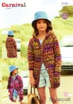 Stylecraft 9189 Knitting Pattern Girls Jacket Hoodie in Carnival Chunky