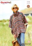 Stylecraft 9188 Knitting Pattern Ladies Poncho in Carnival Chunky