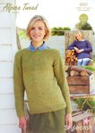 Stylecraft 9207 Knitting Pattern Ladies Jumpers in Stylecraft Alpaca Tweed Chunky