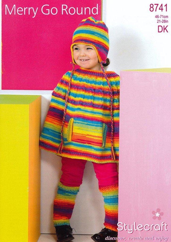 Knitting Pattern Leg Warmers Dk : Stylecraft 8741 Knitting Pattern Cape, Leg Warmers and Helmet in Wondersoft M...