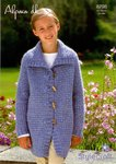 Stylecraft 8798 Knitting Pattern Girls Jacket in Stylecraft Alpaca DK