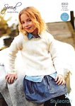 Stylecraft 8903 Knitting Pattern Childrens Girls Cardigan Sweater in Special DK