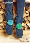Stylecraft 8852 Crochet Pattern Slipper Boots in Stylecraft Classique Cotton DK