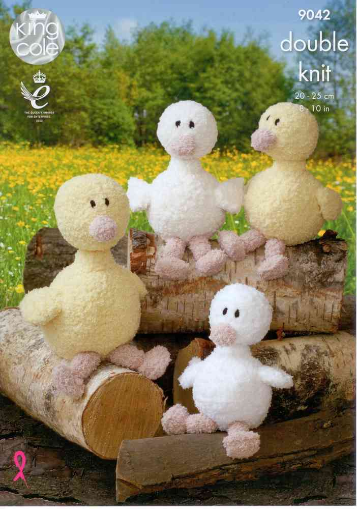 King Cole 9042 Knitting Pattern Mother Duck And Ducklings In Cuddles
