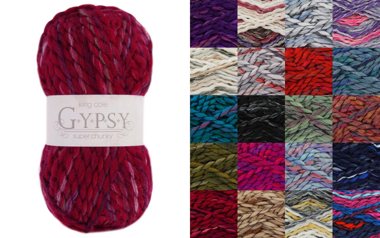 King Cole Gypsy Super Chunky Acrylic And Wool Knitting Yarn