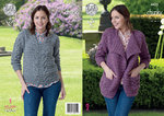 King Cole 4422 Knitting Pattern Jacket and Sweater in King Cole Chunky Tweed