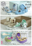 King Cole 4492 Crochet Pattern Crocheted Baby Shoes in Cherish and Cherished DK