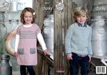 King Cole 4511 Knitting Pattern Raglan Sleeve Tunic and Sweater to knit in Authentic Chunky